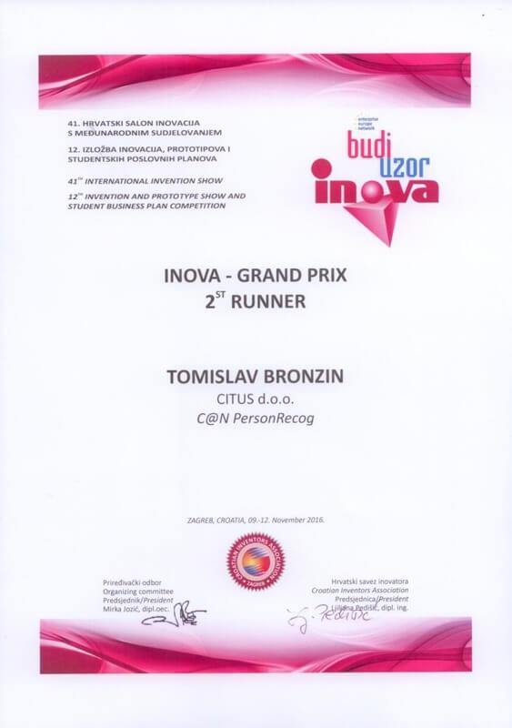 Grand Prix - 2. nagrada, INOVA 2016.