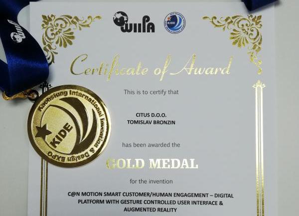 C@N Motion - zlatna medalja KIDE Tajvan