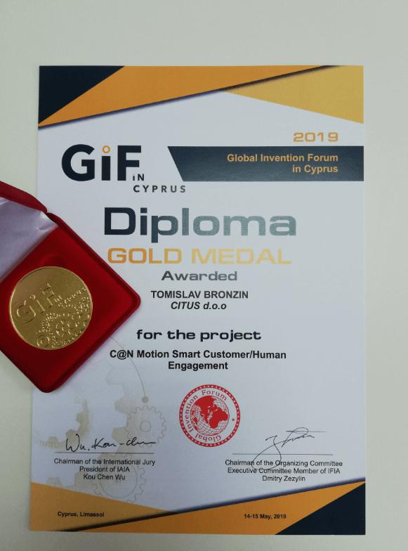Zlatna medalja, GiF Cipar, 2019