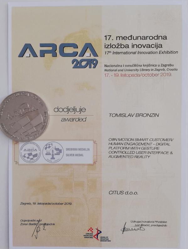 Srebrna medalja, ARCA 2019.