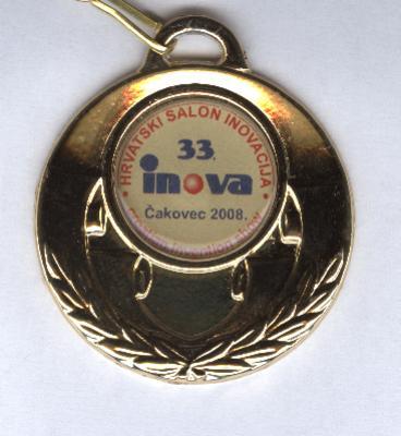 Zlatna medalja, INOVA 33 Hrvatska, 2008.