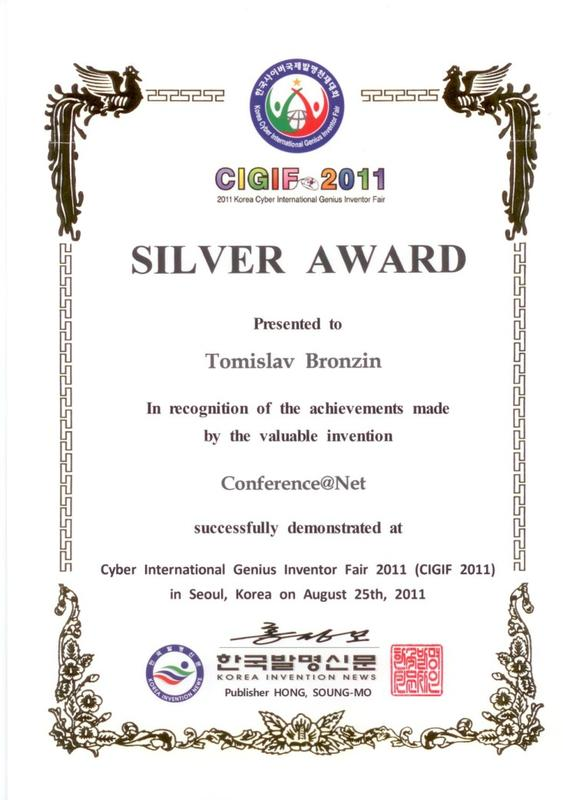 Silver Award, CIGIF, South Korea 2011