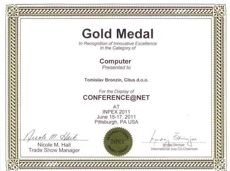 Gold Medal, INPEX USA 2011