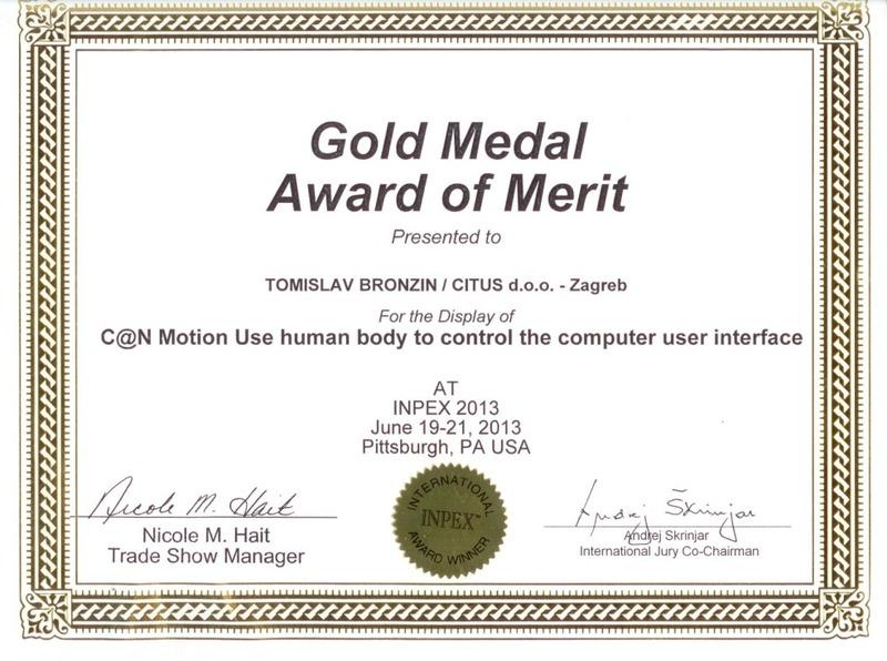 Zlatna medalja, INPEX SAD 2013.