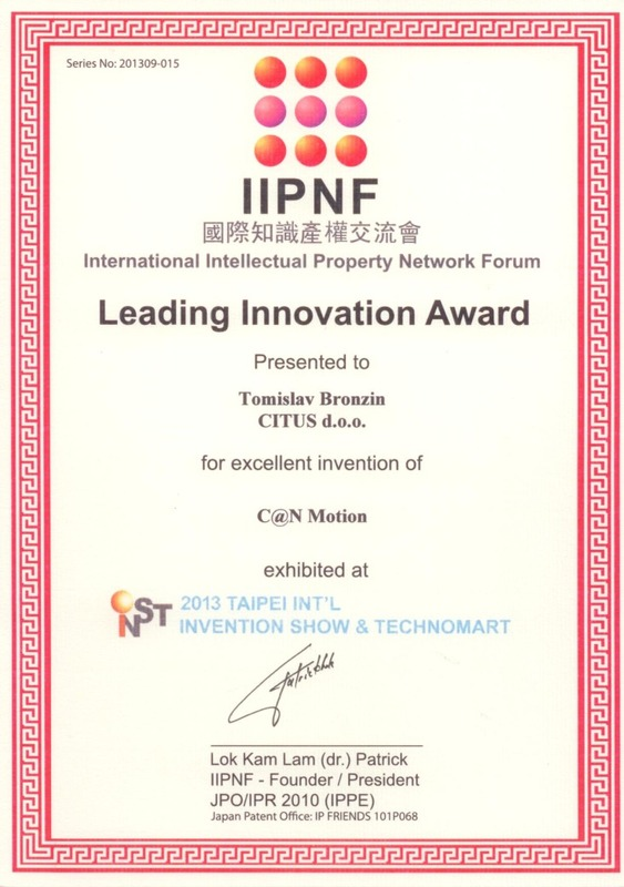 Leading Innovation Award, INST Taiwan 2013