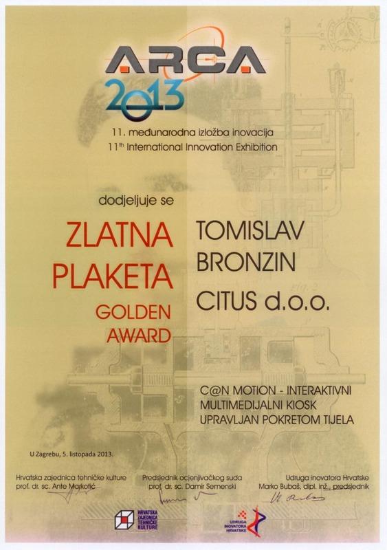 Zlatna medalja, ARCA Hrvatska 2013.