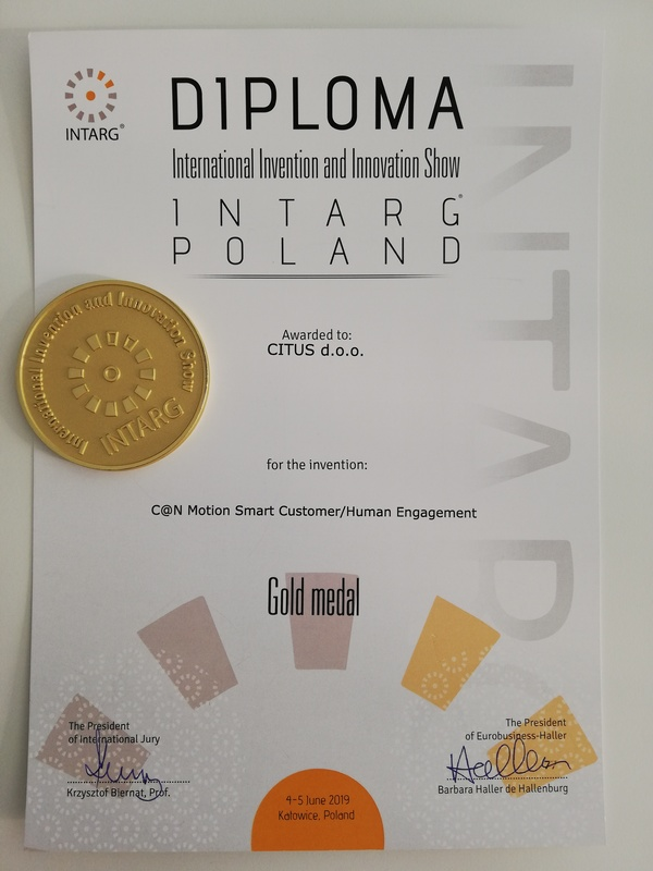 Gold Medal INTRAG Poland 2019