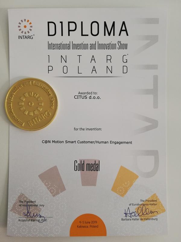 Zlatna medalja, INTRAG Poljska 2019.