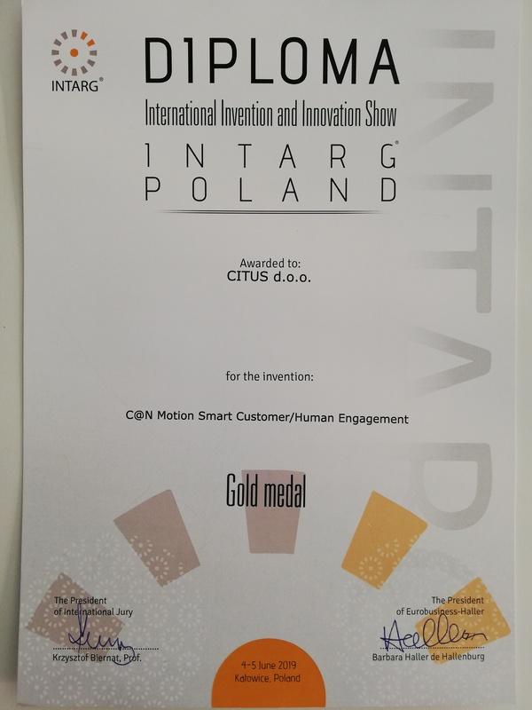 Gold Medal, INTARG Poland 2019.