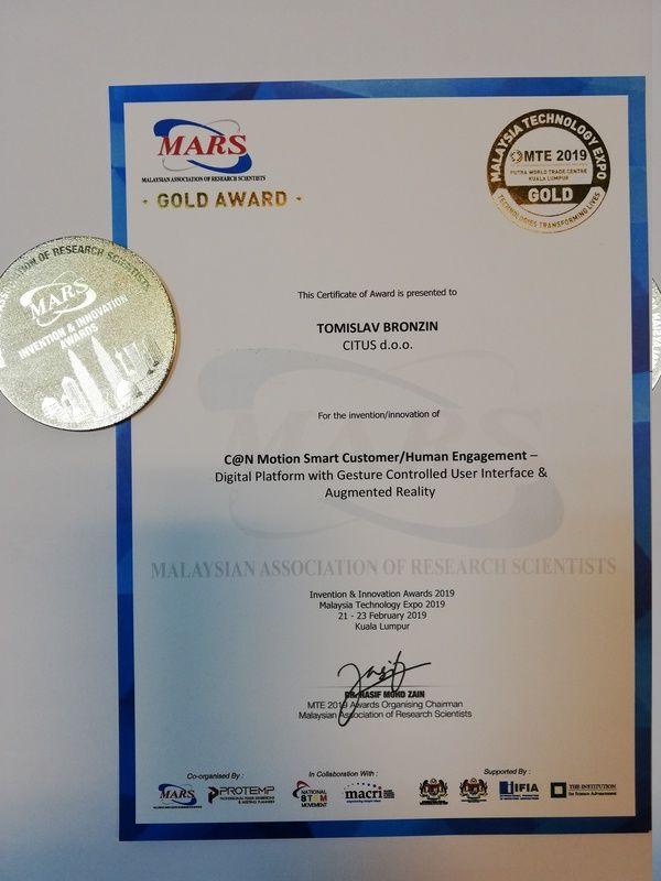 Zlatna medalja, MTE Malezija 2019.
