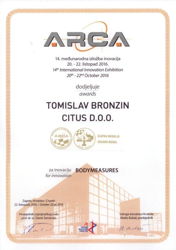 Zlatna medalja. ARCA Hrvatska 2016.