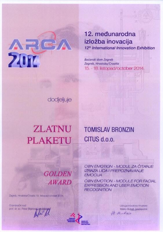 Zlatna medalja, ARCA Hrvatska 2014.