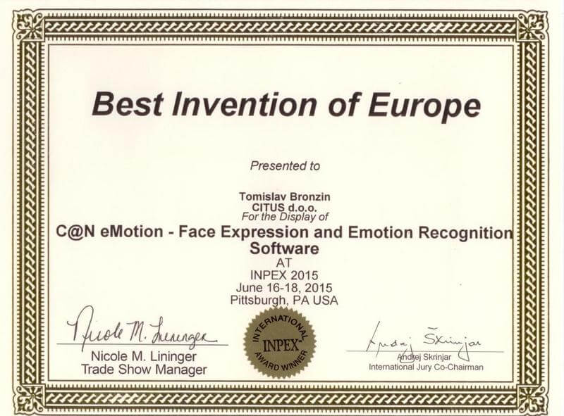 Best Innovation of Europe, INPEX USA 2015