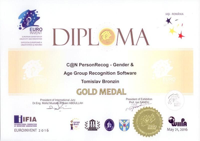 Zlatna medalja, EUROINVENT Rumunjska 2016.
