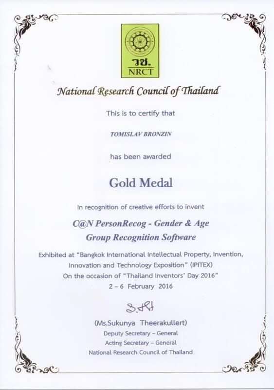 Gold Meda, IPITEX Thailand 2016