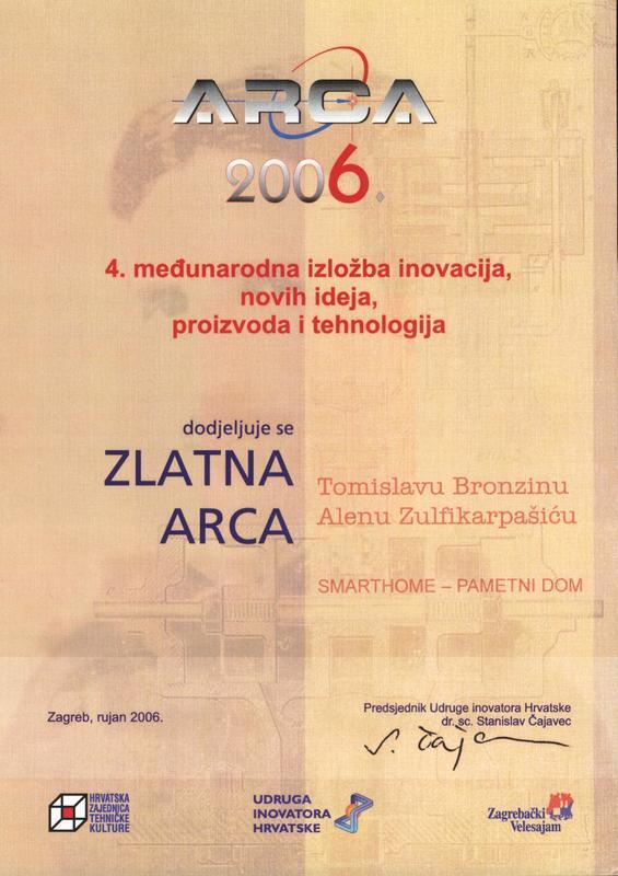 Zlatna medalja, ARCA Hrvatska, 2006.