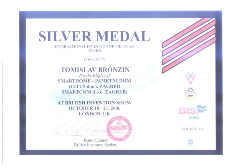 Srebrna medalja, BIS Velika Britanija, 2006.