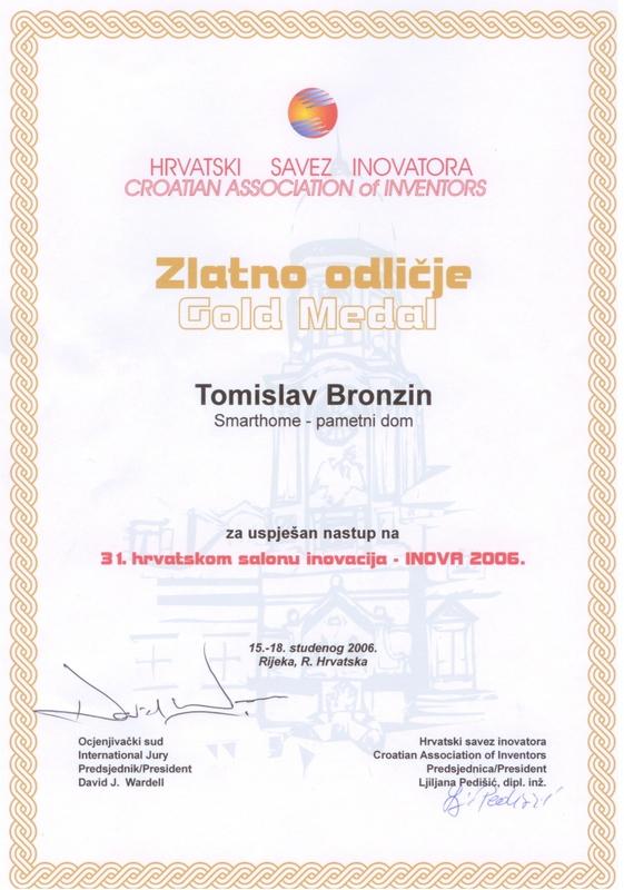 Zlatna medalja, INOVA Hrvatska, 2006.