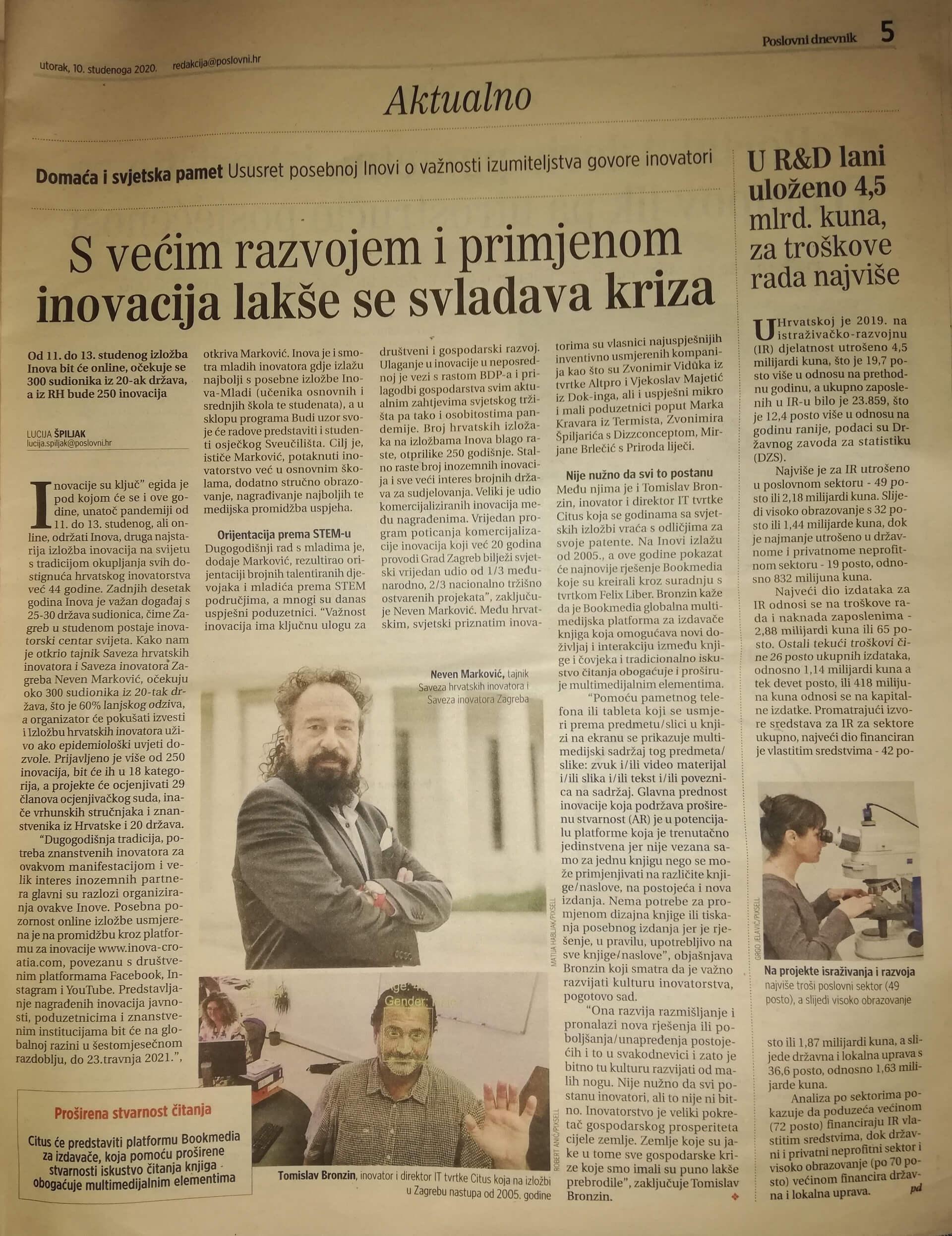 Poslovni dnevnik, 10.11.2020.