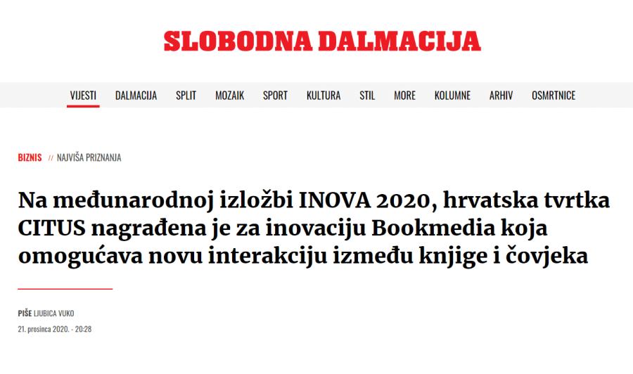 Citus on Slobodna Dalmacija web