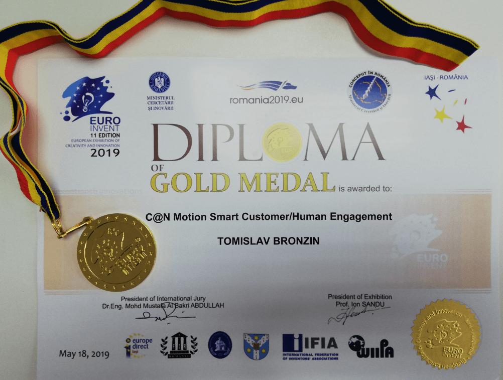 Zlatna medalja, EUROINVENT Rumunjska, 2019.