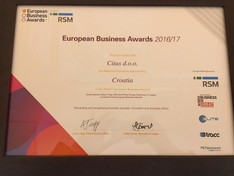 European Business Award 2016/17