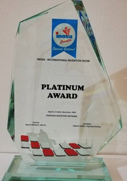 Platinum Award, INOVA Croatia, 2020.